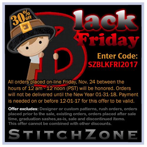 StitchZone Black Friday