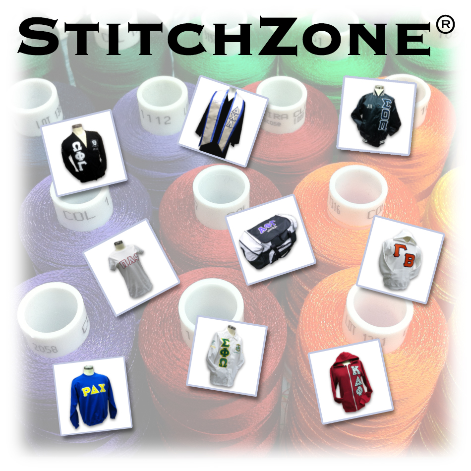 StitchZone Custom Embroidery for Greek Clothing, Fraternity Apparel, Sorority Sweatshirts and Merchandise