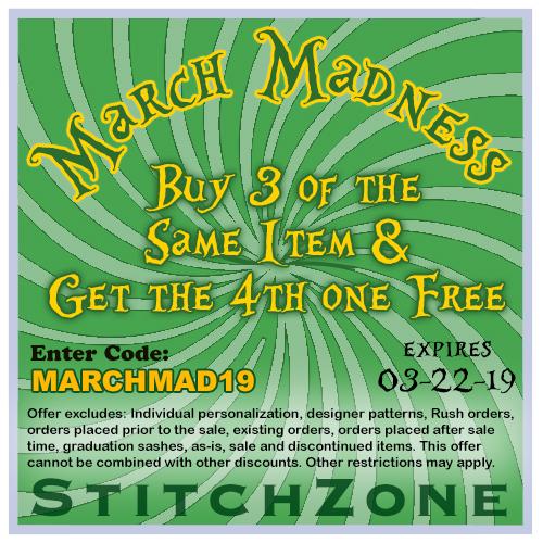 StitchZone March Maddness Sale