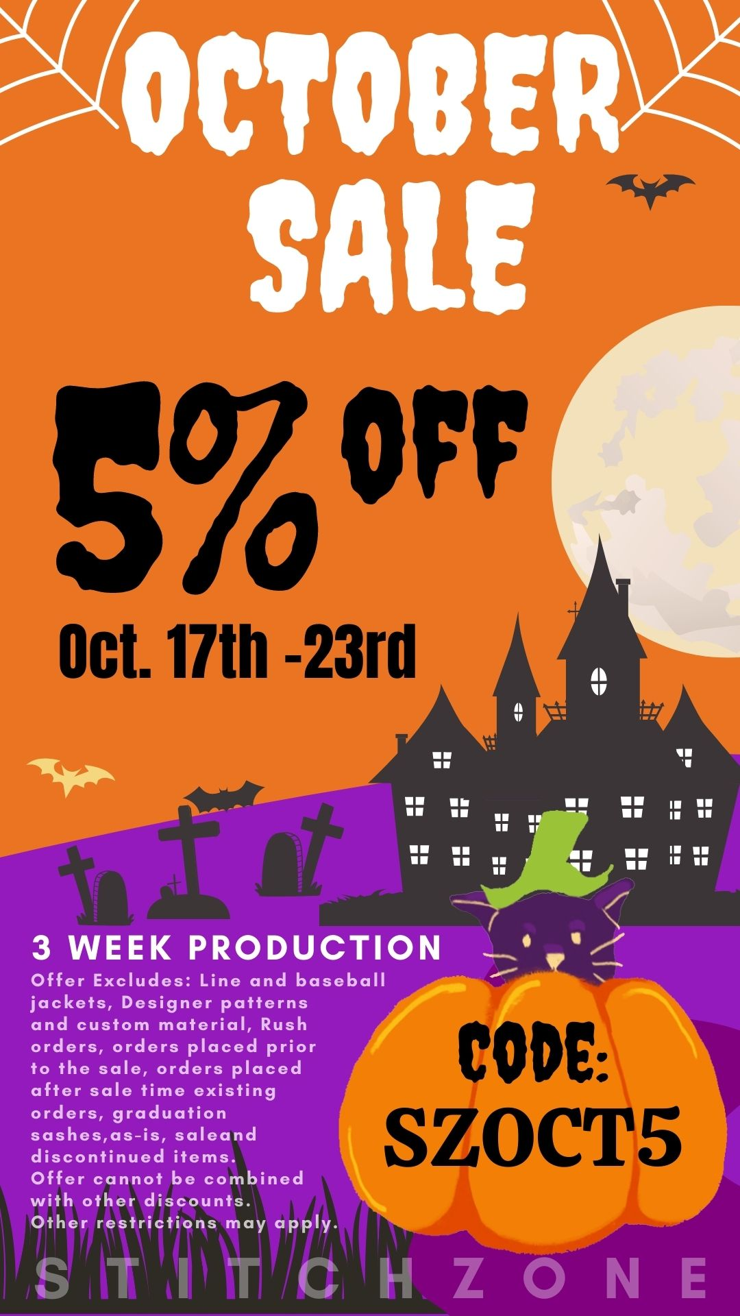 StitchZone October Sale