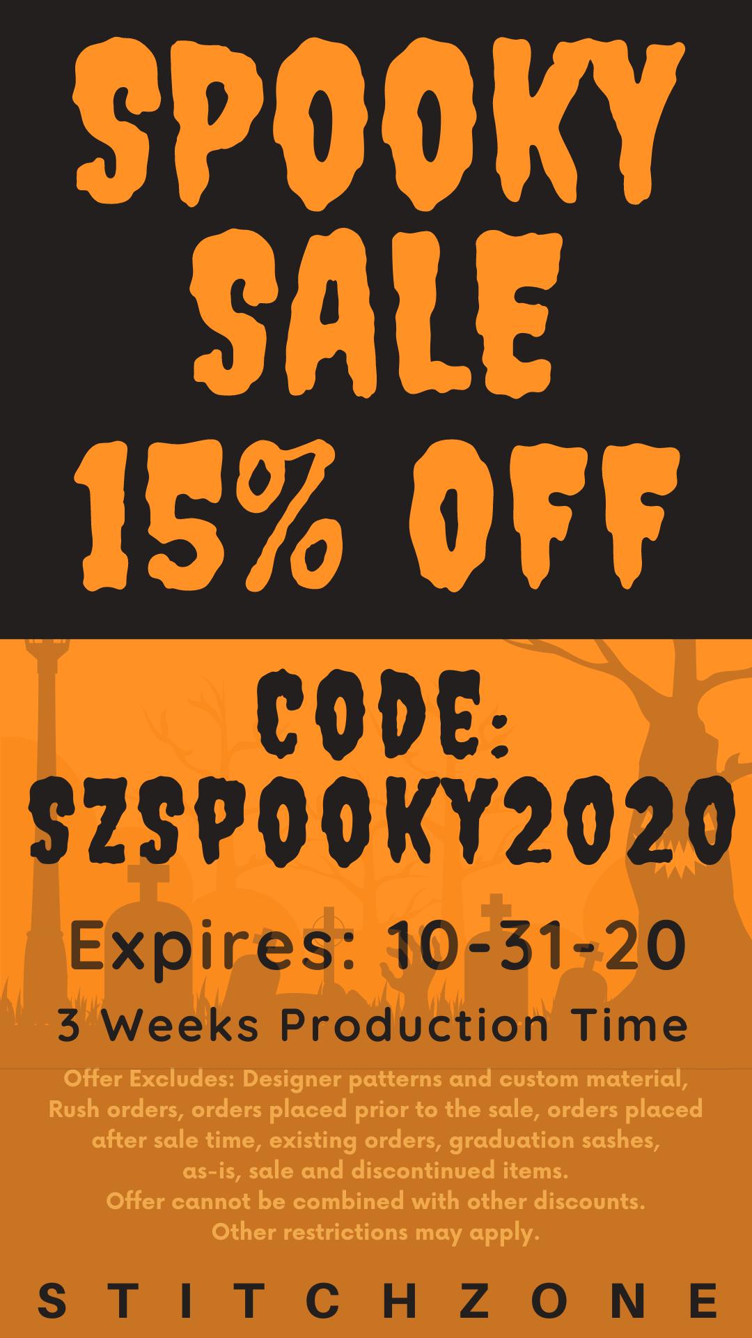 StitchZone Spooky Sale