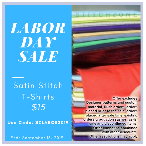 StitchZone Labor Day Sale