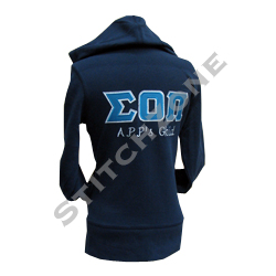 Create your custom greek apparel with interactive design tools. Customize sorority letter shirts, fraternity shirts, monogram sweatshirts, frat hats, greek stoles, and more. You'll love the way we sew and print your greek gear and sorority gifts!